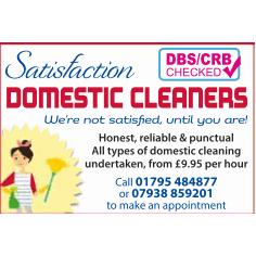 Satisfaction Domestic Cleaners - Faversham, Kent ME13 8JA - 01795 484877 | ShowMeLocal.com