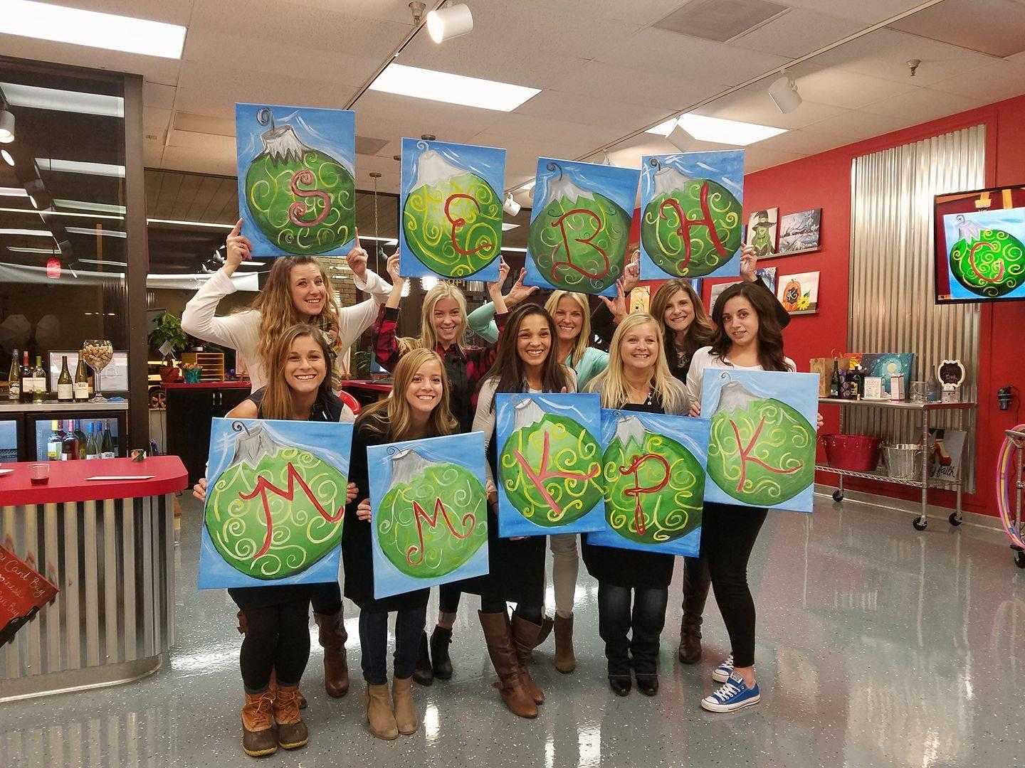 Painting with a twist in manchester mo event space for Wine and paint st louis
