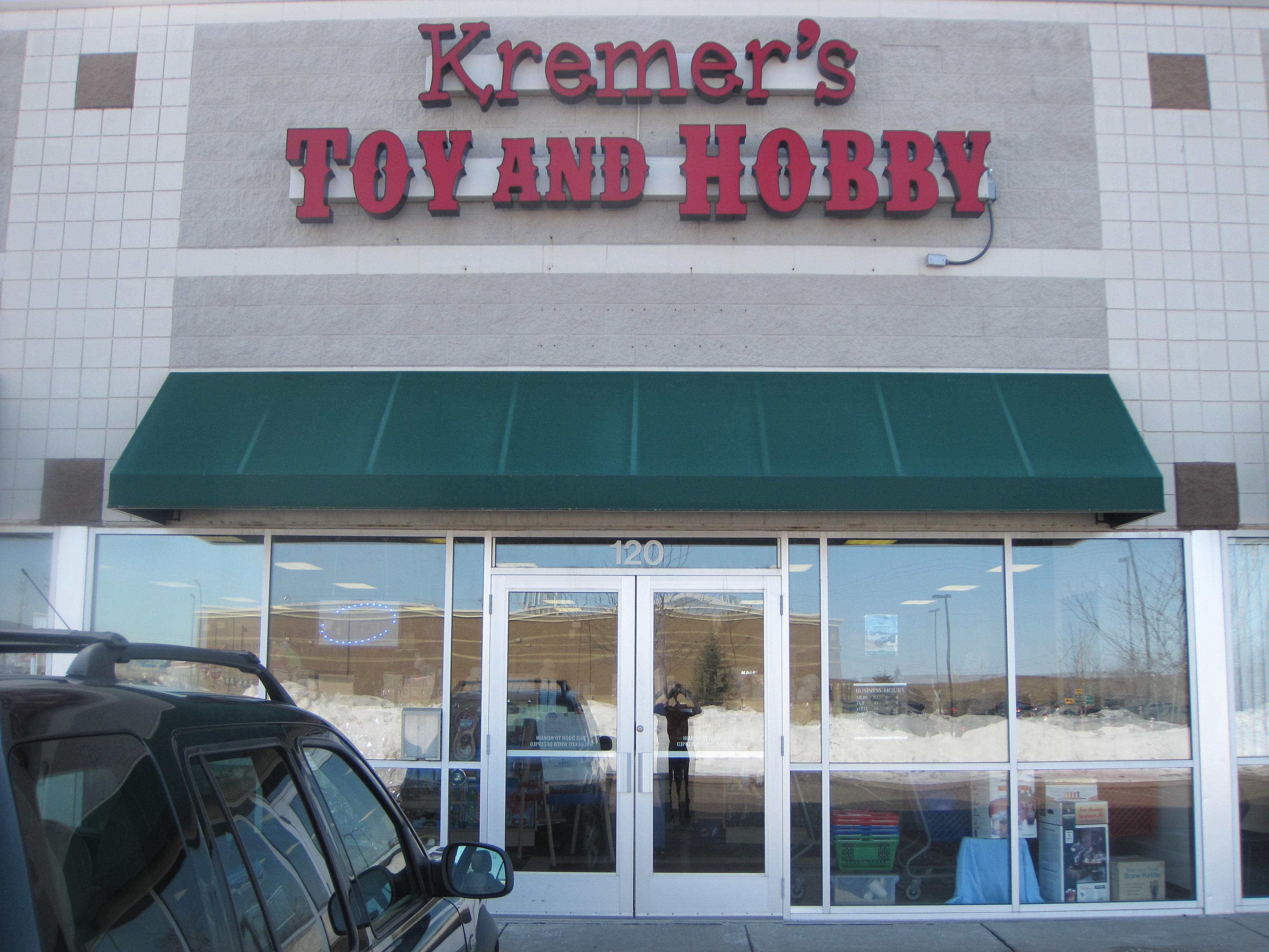Kremer's Toy and Hobby - ad image