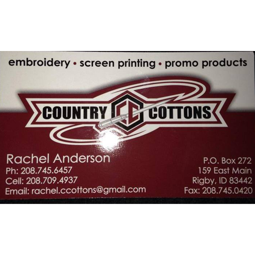 Country Cottons Custom Embroidery & Screen Printing