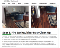 Charlottesville Fire and soot damage cleanup and restoration