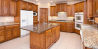 Enhance the beauty and functionality of your kitchen with custom cabinets.