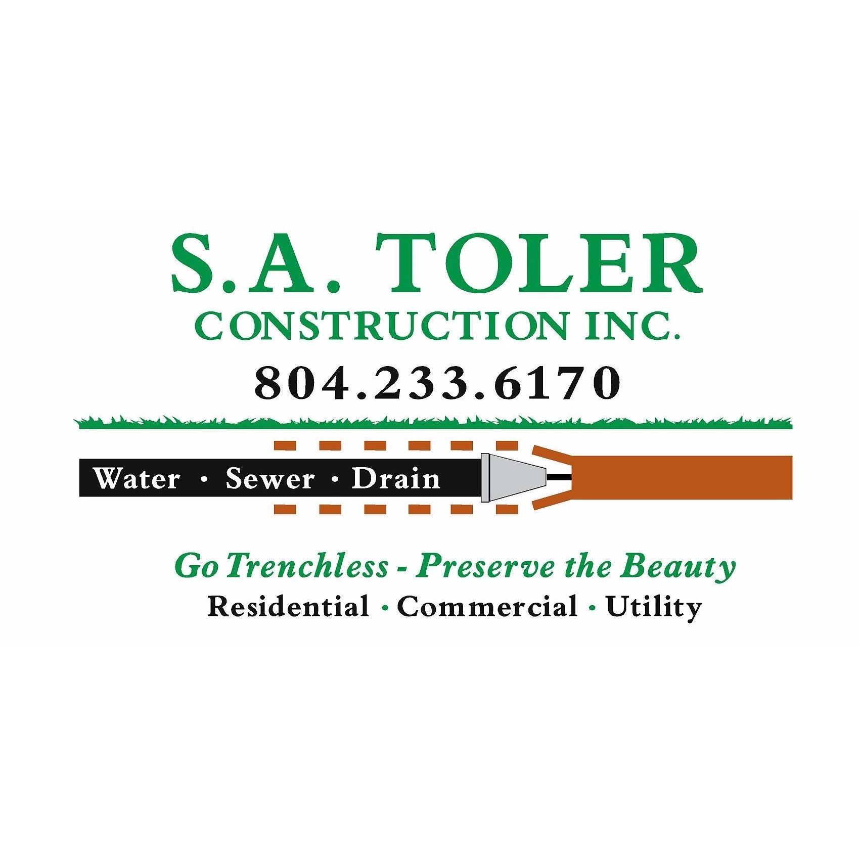 S.A. Toler Construction Inc - Richmond, VA - Plumbers & Sewer Repair