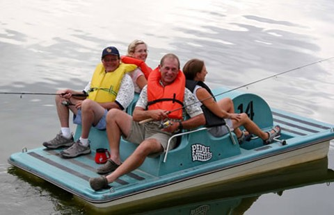 Fort collins lakeside koa holiday fort collins co for Fishing pedal boat