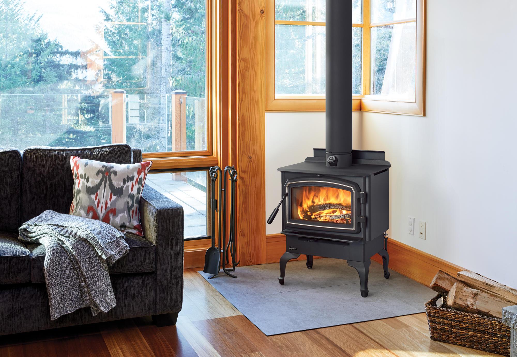 Fireplace Gallery in Edmonton: Regency Cascades F1500 Hybrid Catalytic Wood Burning Stove