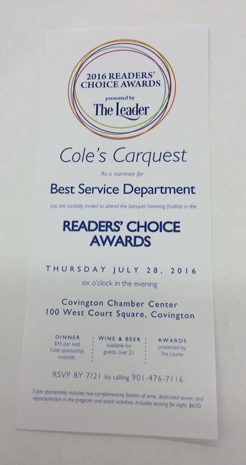 Cole's Carquest Auto Parts & Service Center