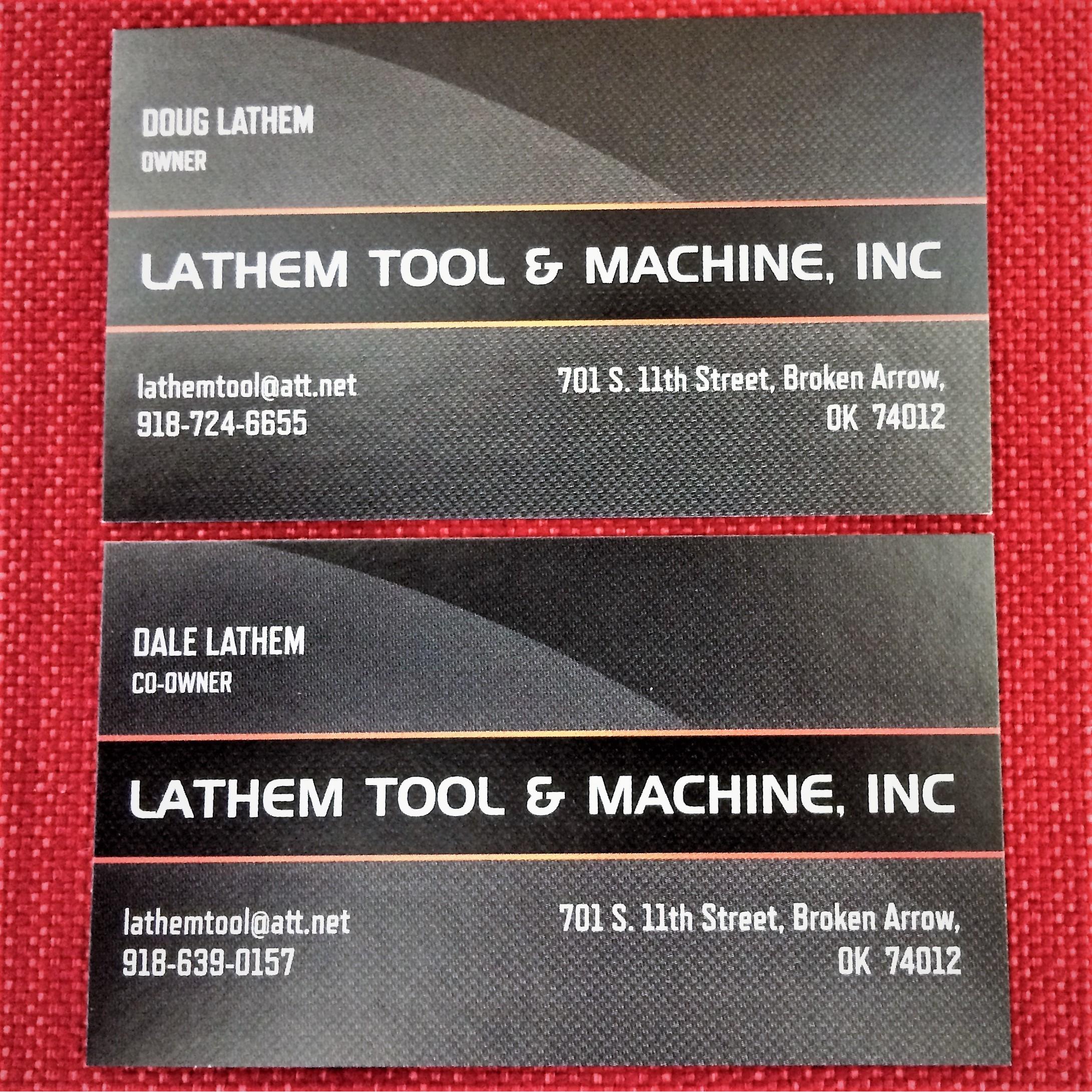 Lathem Tool  and  Machine Inc