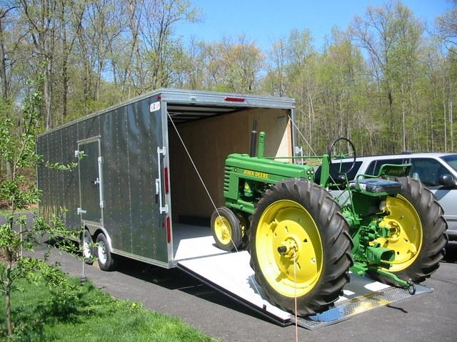 Trailer Superstore! - Mechanicsburg, PA - Enclosed Cargo Trailers to haul and store Antique John Deere Tractors