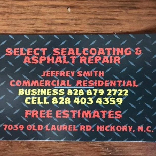 Select Seal Coating & Asphalt Repair - Hickory, NC - Concrete, Brick & Stone