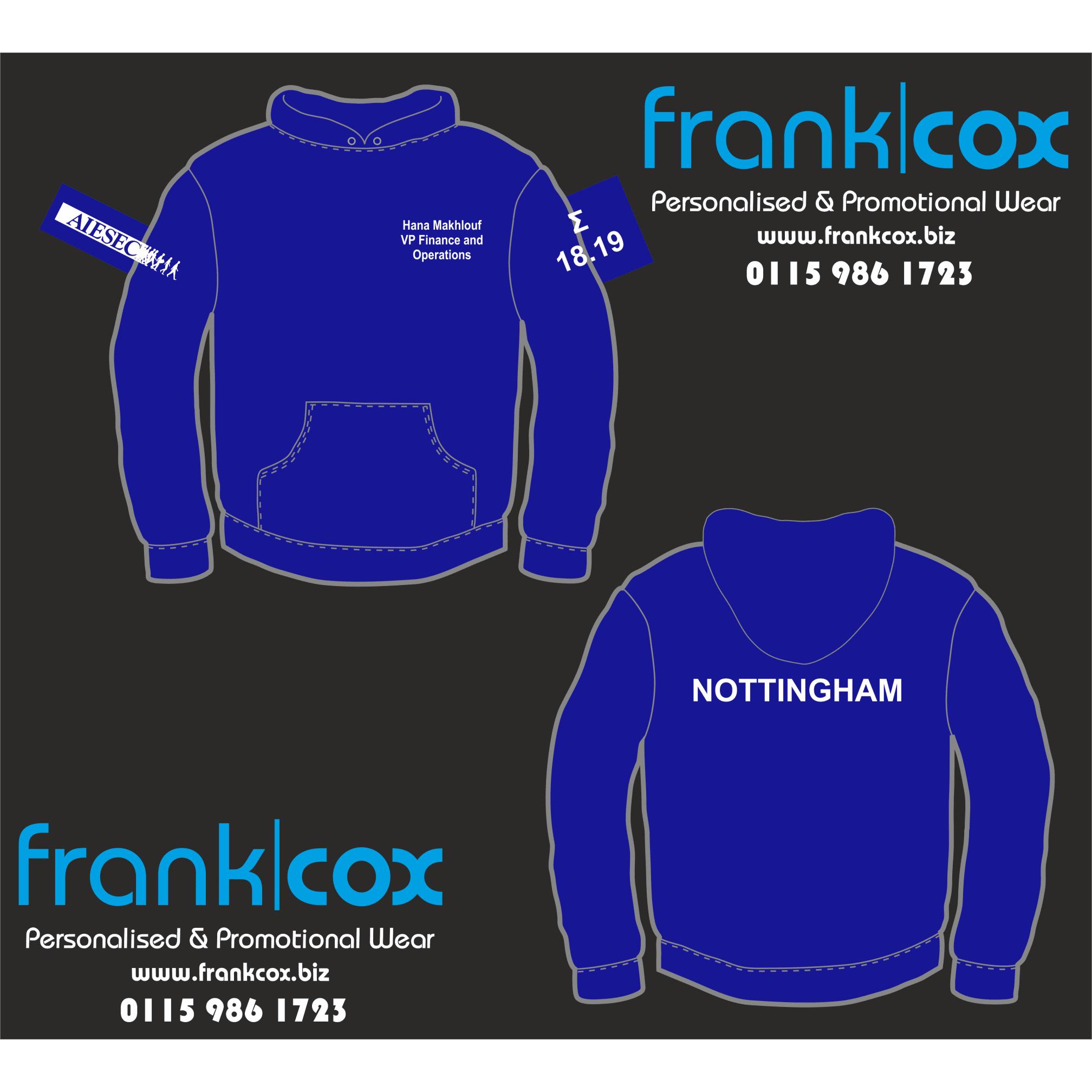 Frank Cox Personalised & Promotional Wear - Nottingham, Nottinghamshire NG7 7JP - 01159 861723 | ShowMeLocal.com