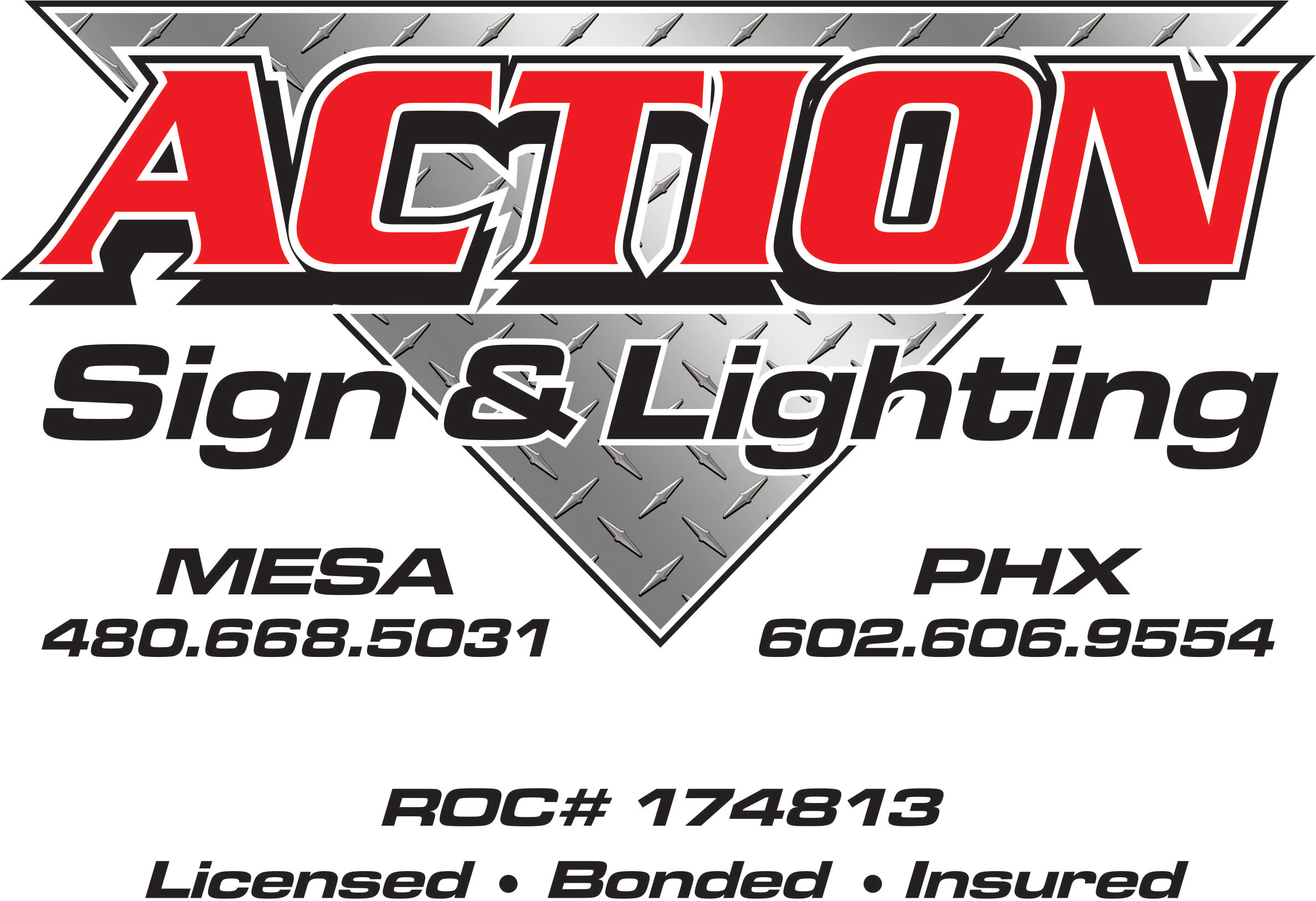 Action Sign and Lighting