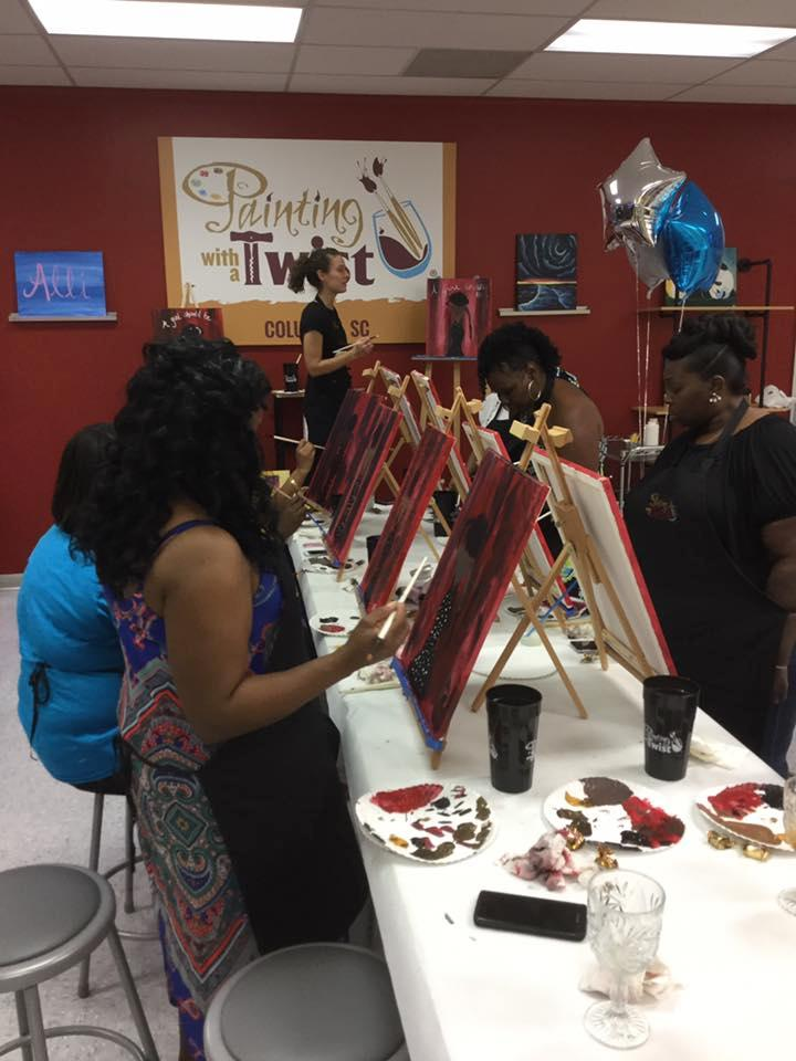 Painting with a twist in columbia sc art supplies for Craft stores columbia sc