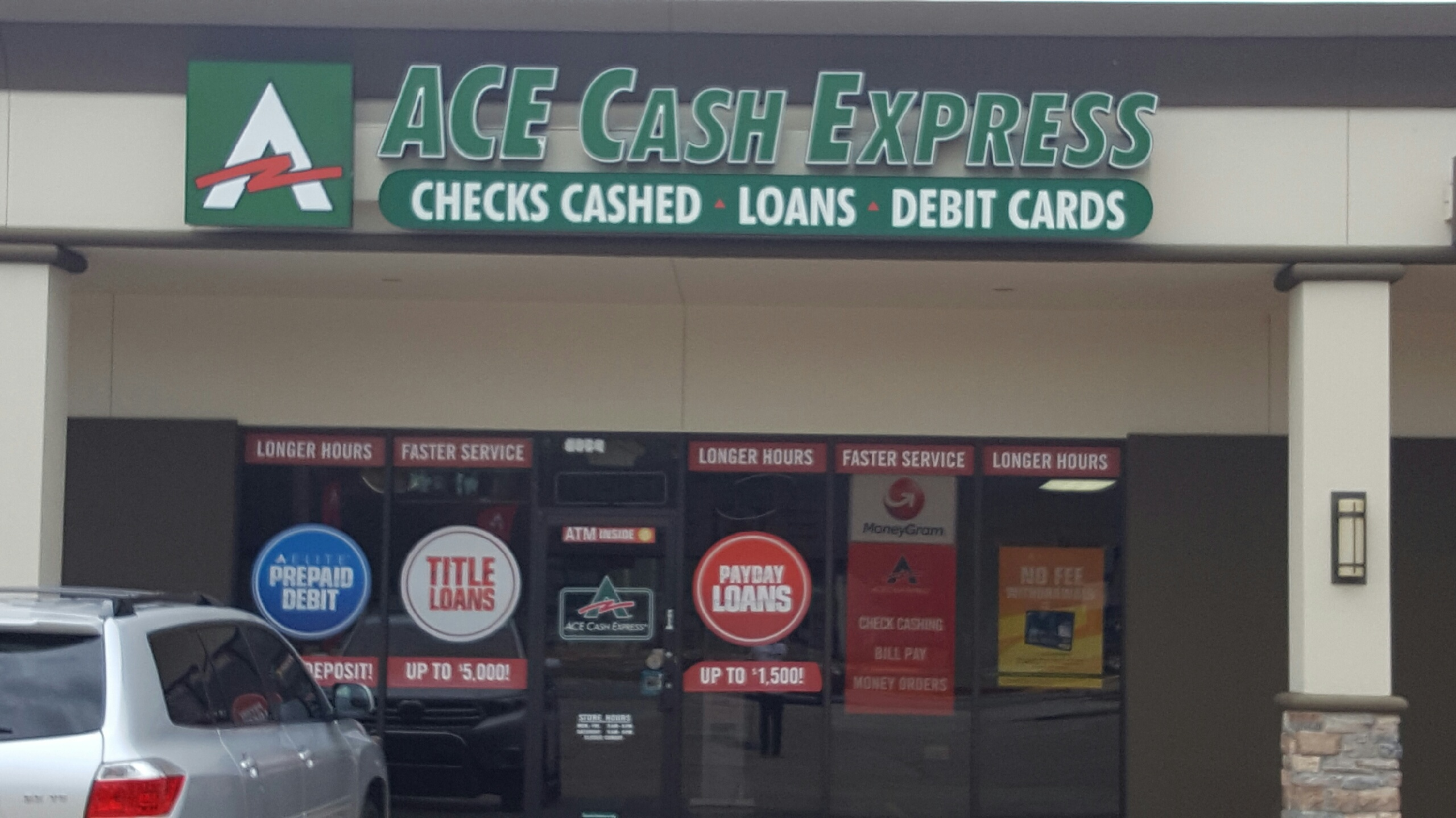 ACE Cash Express offers instant loan approvals for quick cash and payday loans. Register today and get discounts and special offers for short-term and long-term loans in the amount of your choice, as well as title loans, debit cards and auto insurance.