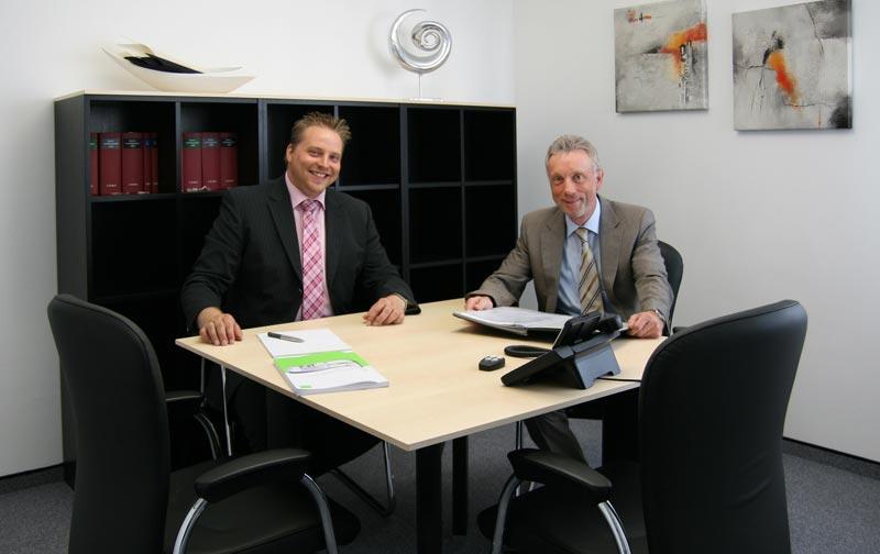 Steuerberater Klaus Lunau und Markus Altmann