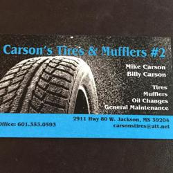 Carsons Tire & Muffler 2 LLC - Jackson, MS - General Auto Repair & Service