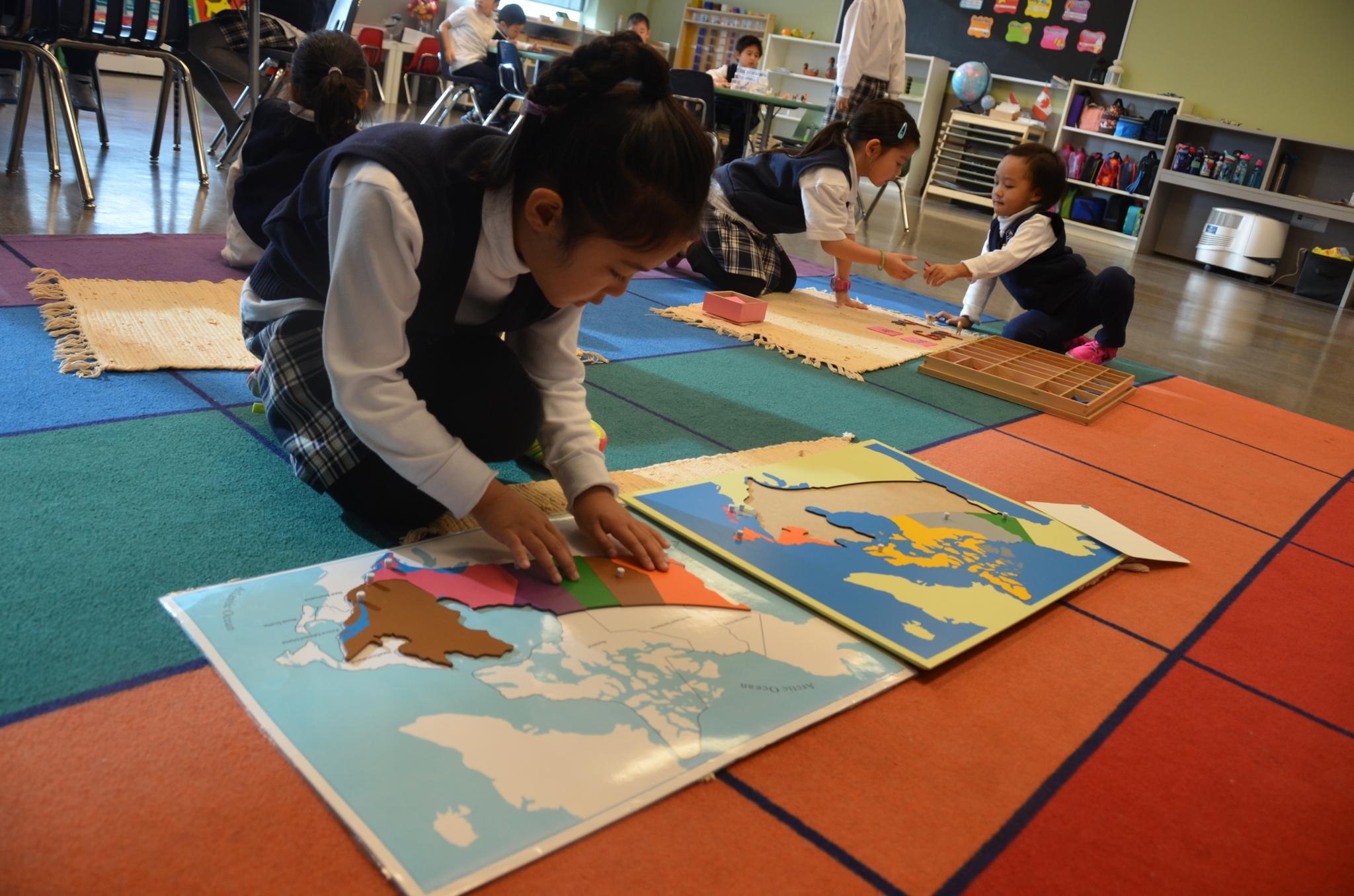 J Addison School in Markham: Montessori CASA programs suitable for ages 3 - 6 at J. Addison School.