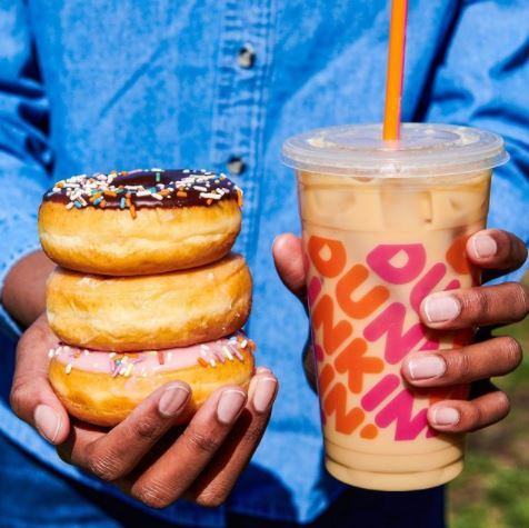 Dunkin' Iced Espresso Drink and Donuts