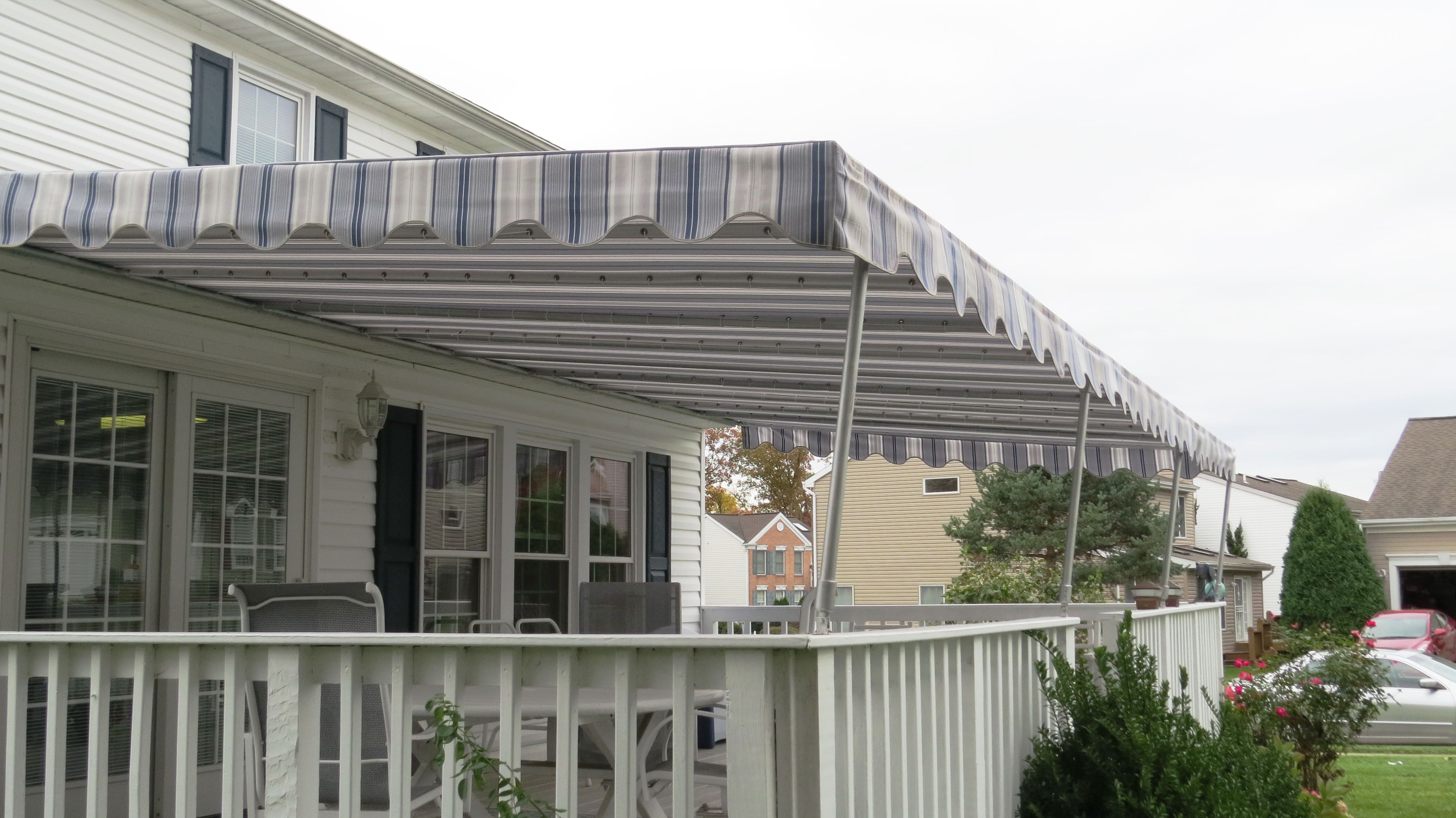 Call A Hoffman Awning in Baltimore     410-685-5687 Residential Porch Awning  Baltimore Maryland