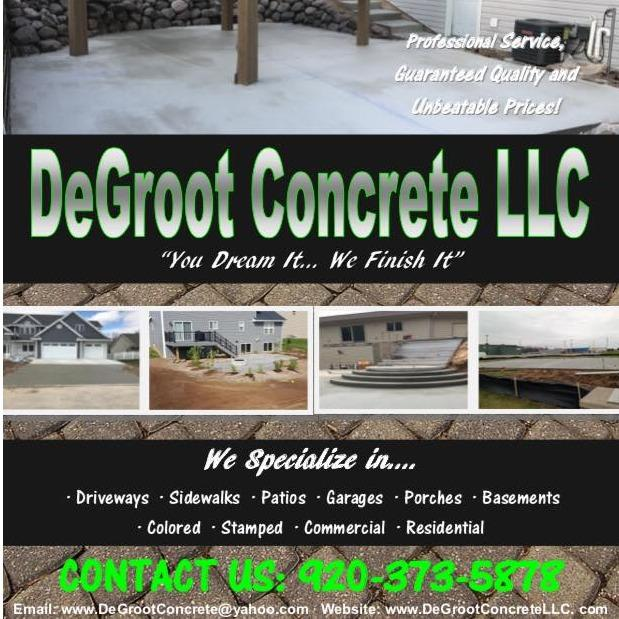 DeGroot Concrete LLC - Green Bay, WI 54304 - (920)373-5878 | ShowMeLocal.com