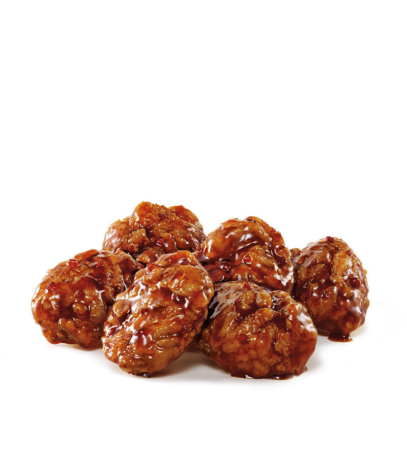 SONIC's Boneless Wings are 100% all white meat chicken with a traditional crispy coating tossed in NEW Honey BBQ sauce. Sweet brown sugar with a touch of honey and chipotle pepper make this wing sauce our most popular seller!