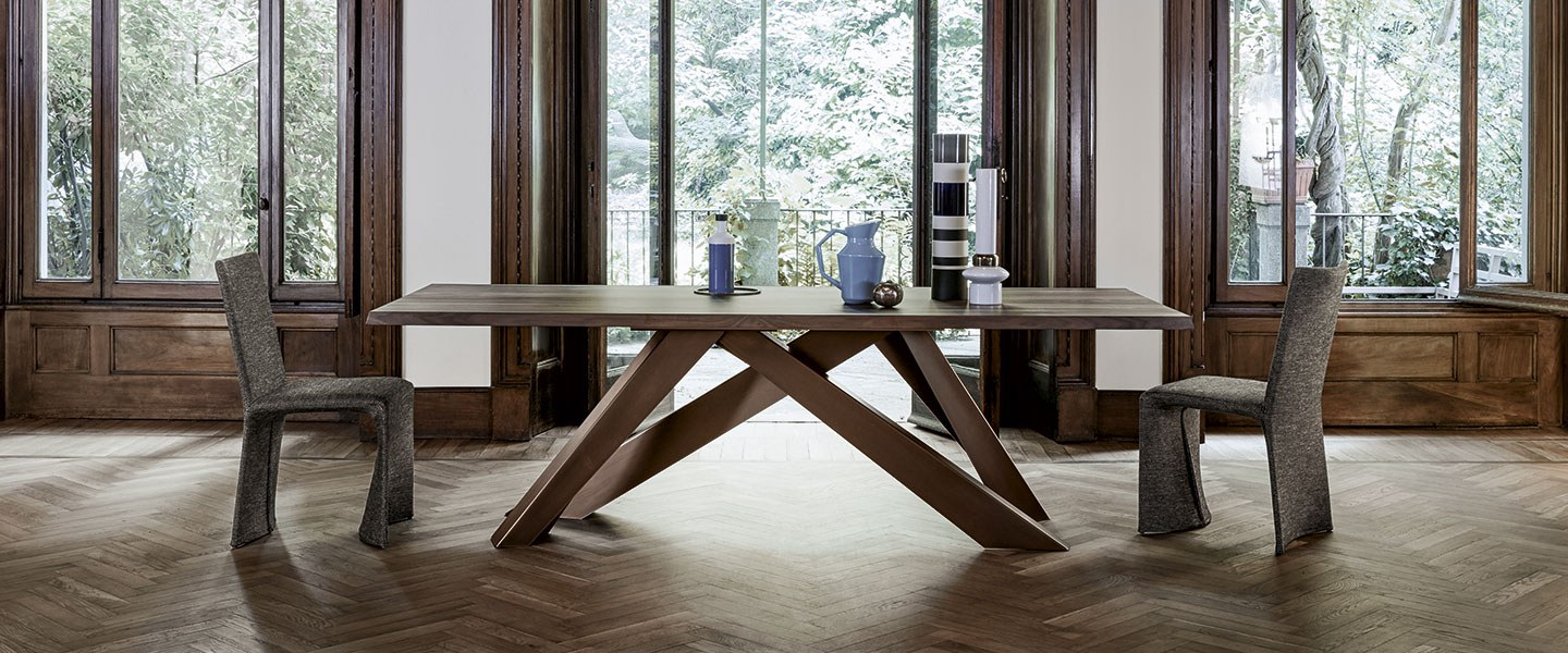 Bonaldo, a successful company in Italy and worldwide that produces elegant furniture and designer accessories, originated from a great passion for design. Tables, chairs, accessories, sofas and beds are produced exclusively in Italy and exported all over the world,