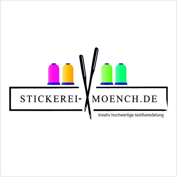 Stickerei Mönch