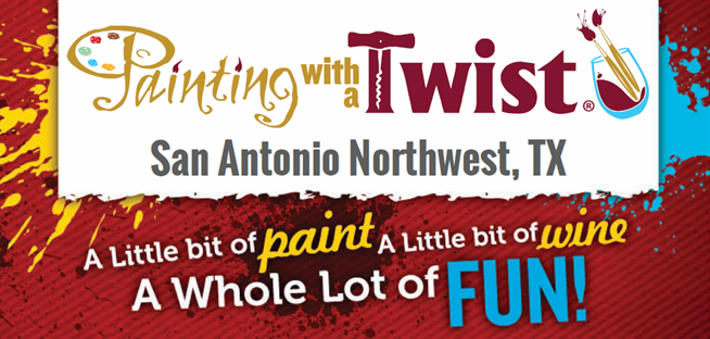 Painting with a twist in san antonio tx 78250 for Wine painting san antonio