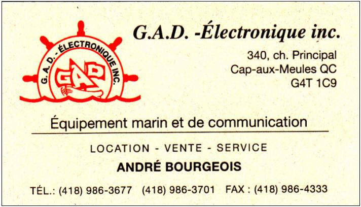 G A D Electronique Inc à Cap-Aux-Meules