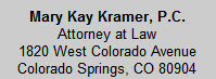 Kramer Mary Kay Attorney At Law
