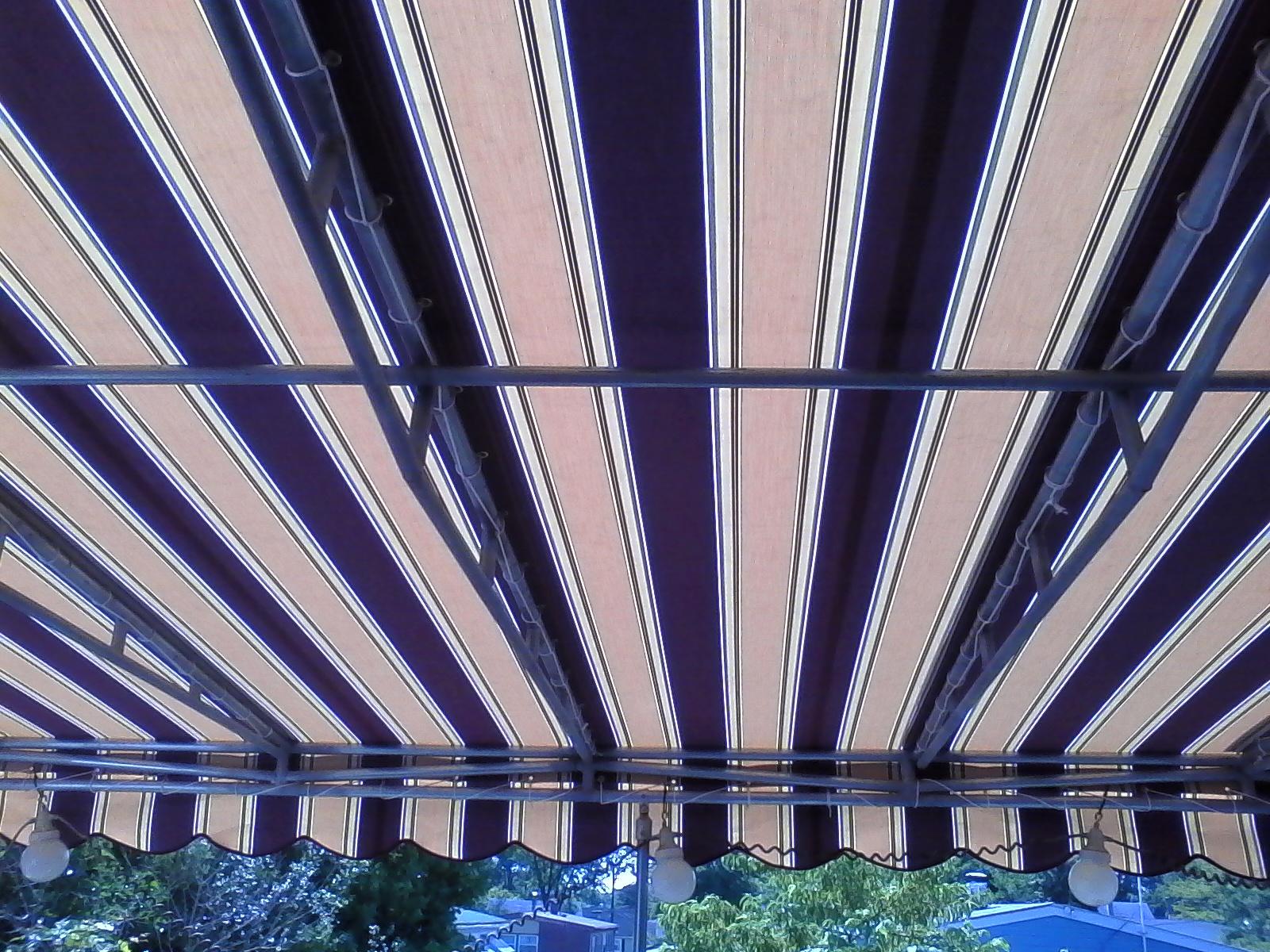 Striped Sunbrella Fabric Awning A. Hoffman Awning in Baltimore     410-685-5687