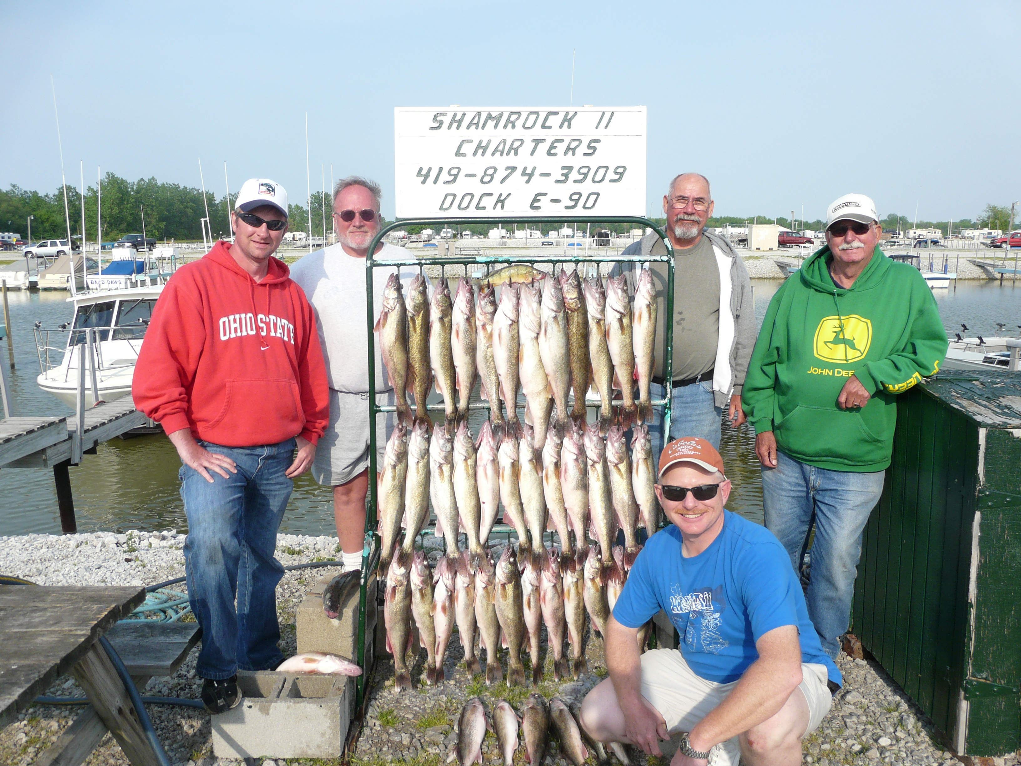 Shamrock fishing charters curtice ohio oh for Ohio fishing charters