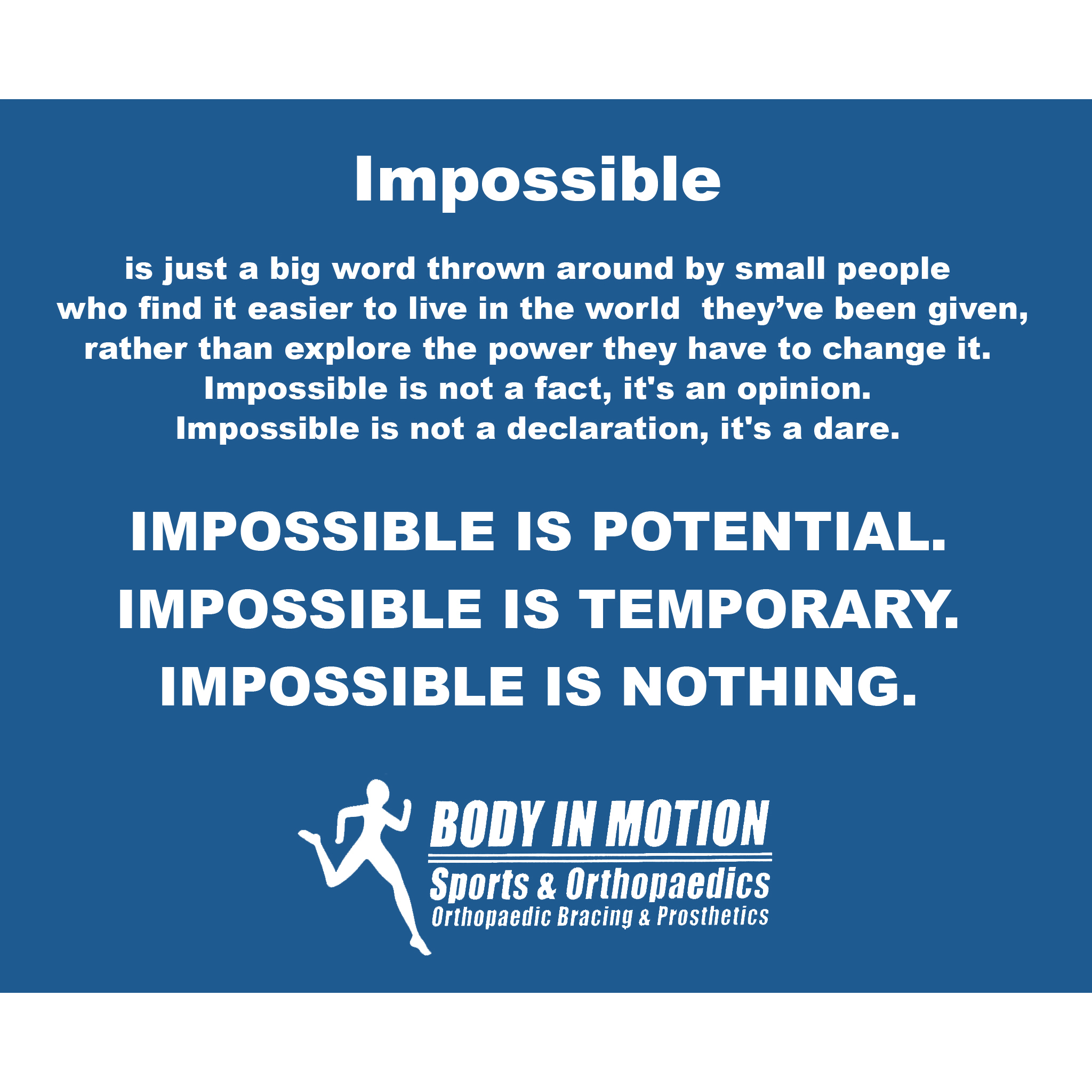 Body In Motion Sports & Orthopedics