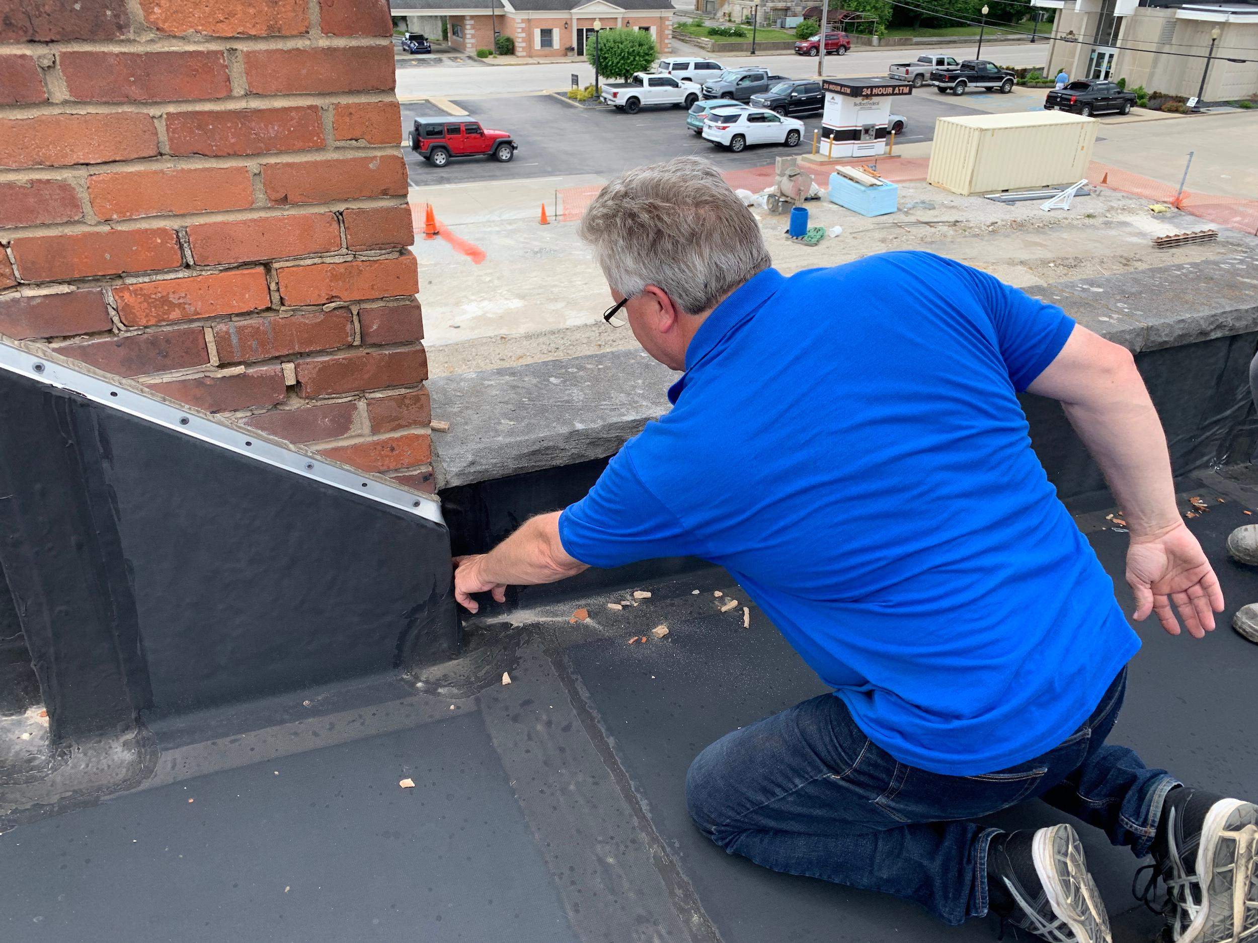 Our commercial roofing repair services are just a phone call away.