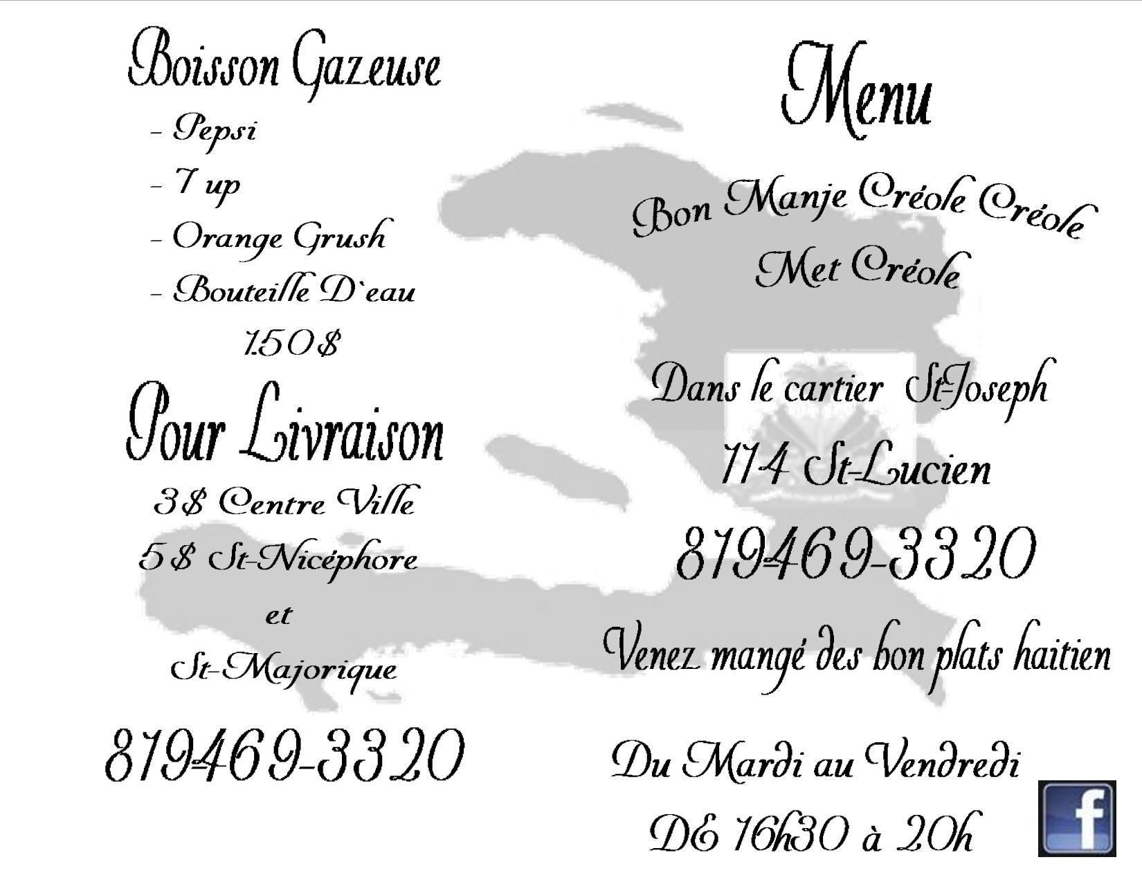 Bon Manje Creole Creole - Drummondville, QC J2B 2B5 - (819)469-3320   ShowMeLocal.com