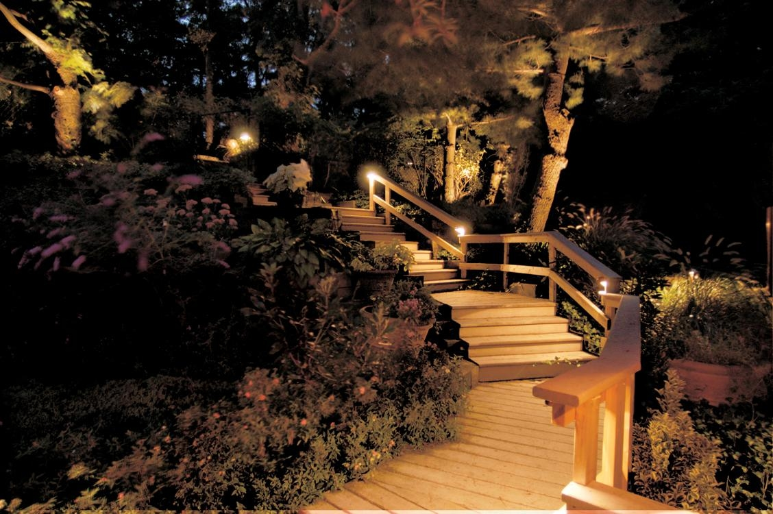 Outdoor Lighting Perspectives of Columbus - Columbus, OH - Deck lighting adds safety and ambiance to your outdoor areas.