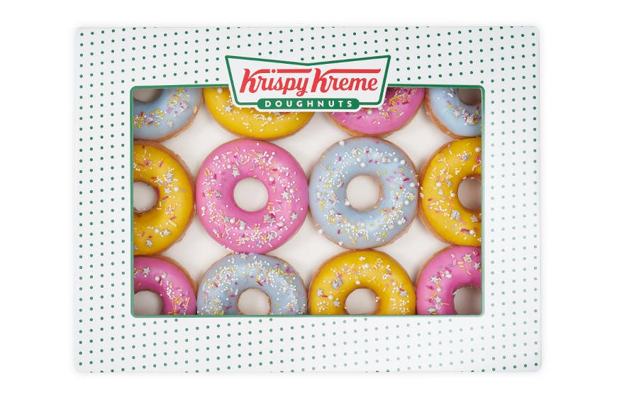Personalised doughnuts for every occasion from Krispy Kreme Krispy Kreme Head Office Camberley 01276 601170