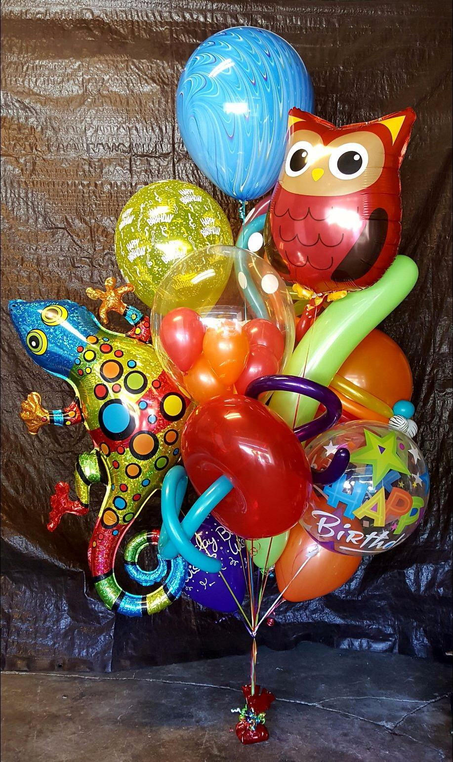 Fun Animal Theme Birthday Balloon Bouquet
