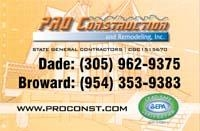PRO Construction and Remodeling, Inc. - classified ad