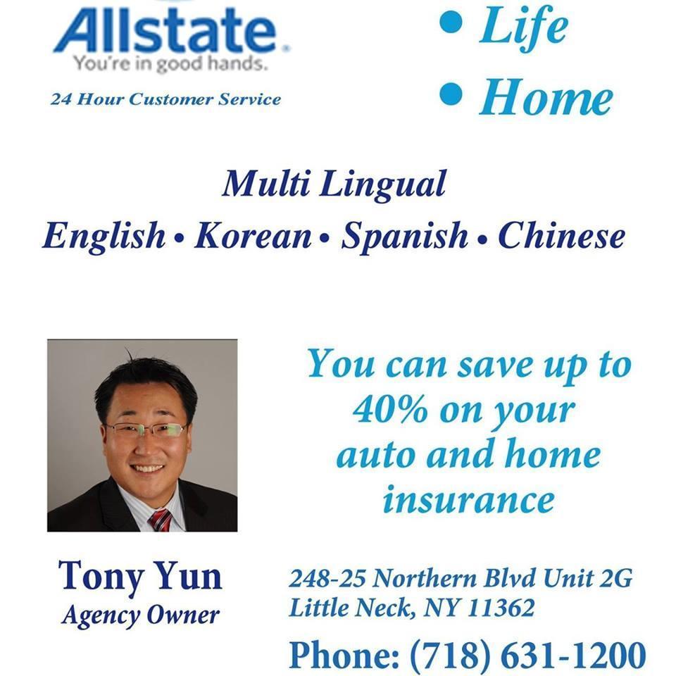 Tony Song Yun: Allstate Insurance, Little Neck New York