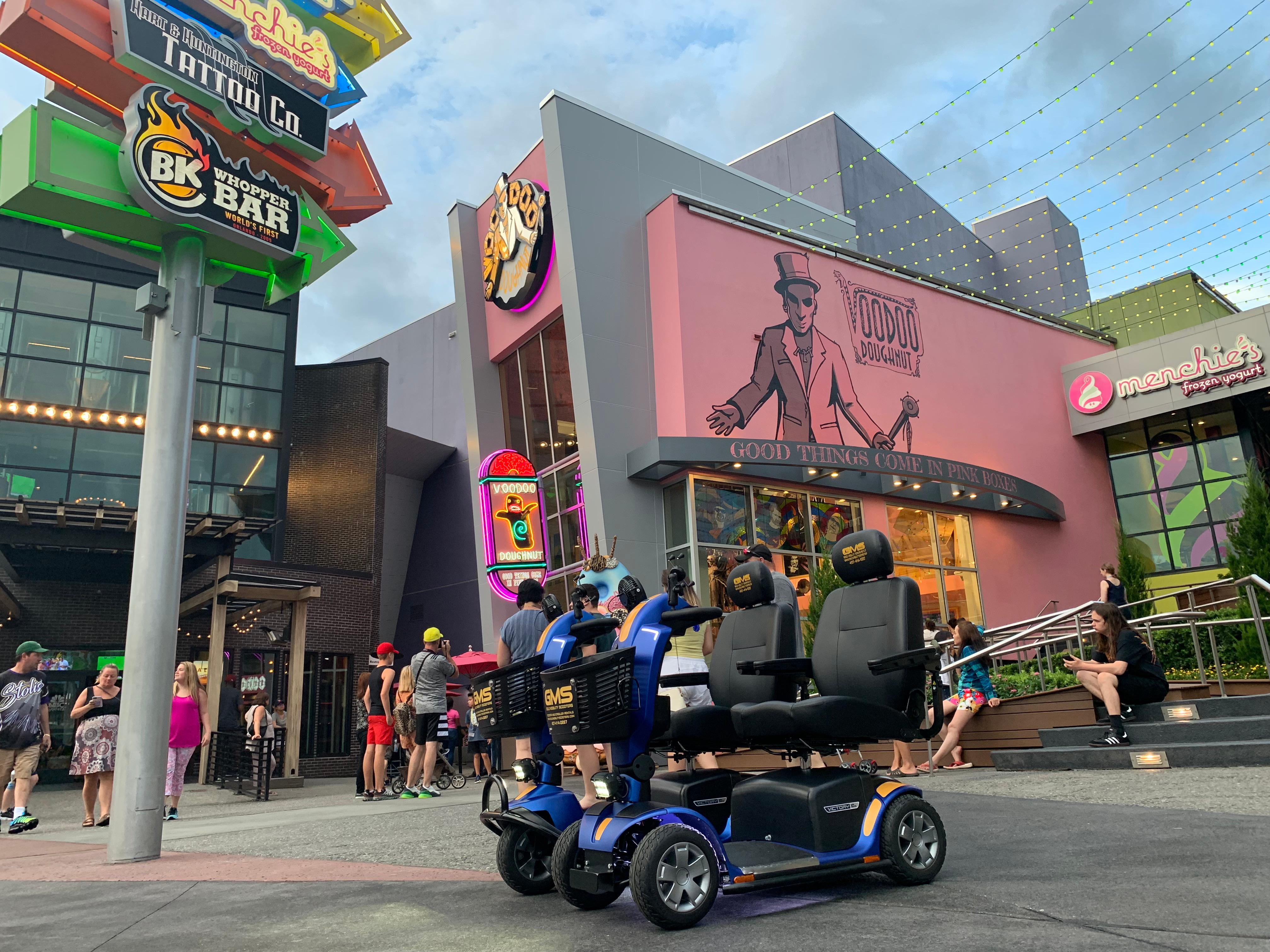 Mobility scooter rental Universal Orlando Florida  by Gold Mobility Scooters. We sell and rent top of the line Pride Mobility Scooters in our rent a scooter line. Theme Parks and Orlando Florida Area scooter rentals. Best rental Prices, Premium brand new scooters for rent, Free Delivery and Pickup, Free Damage Waver, Free Accessories, and Custom upgrades. 5 star rated scooter rental company. Scooter Rental info at https://goldmobilityscooters.com or Call us at 407-414-0287