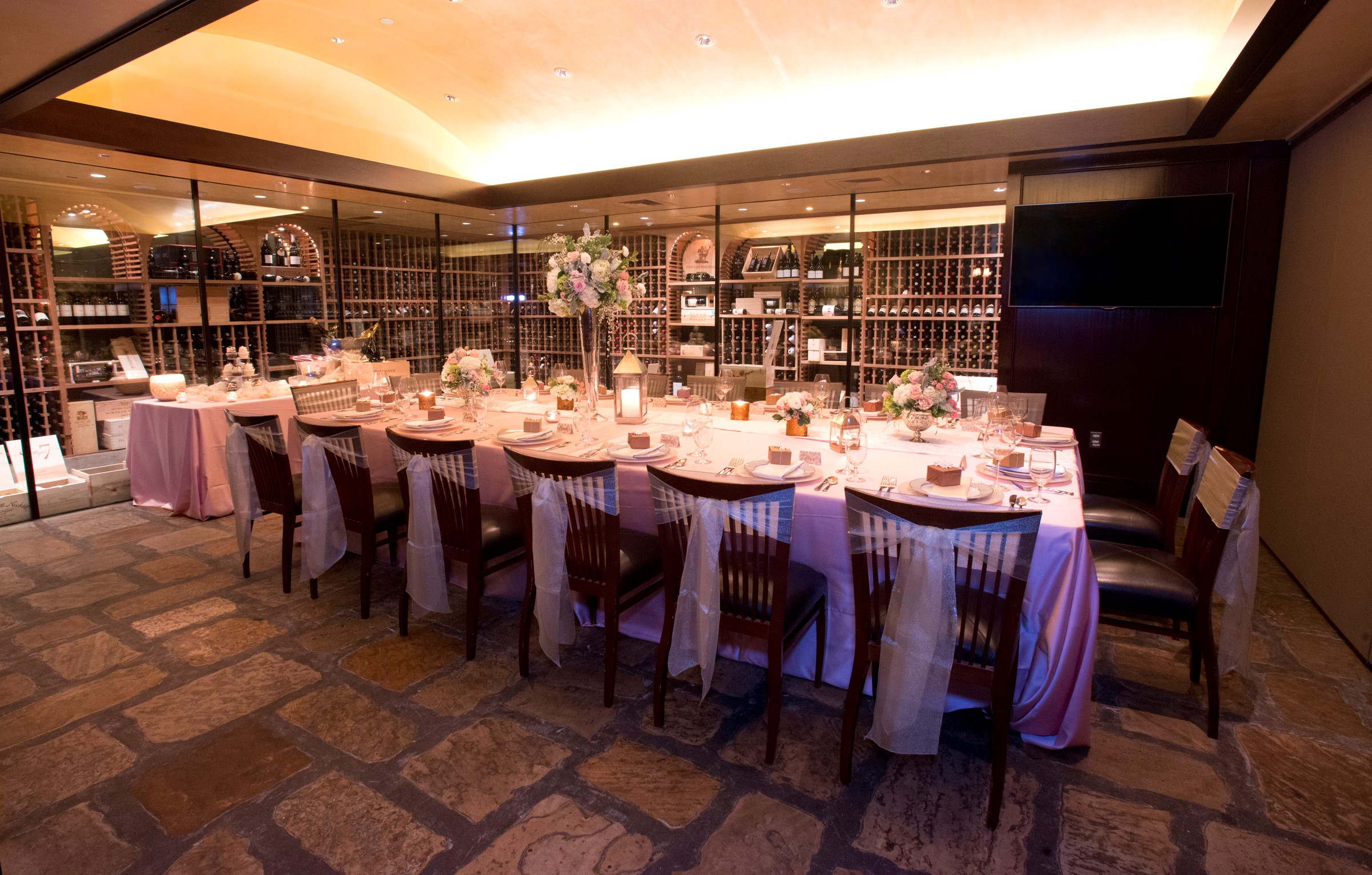 Del Frisco's Double Eagle Steakhouse Charlotte Cellar One private dining room
