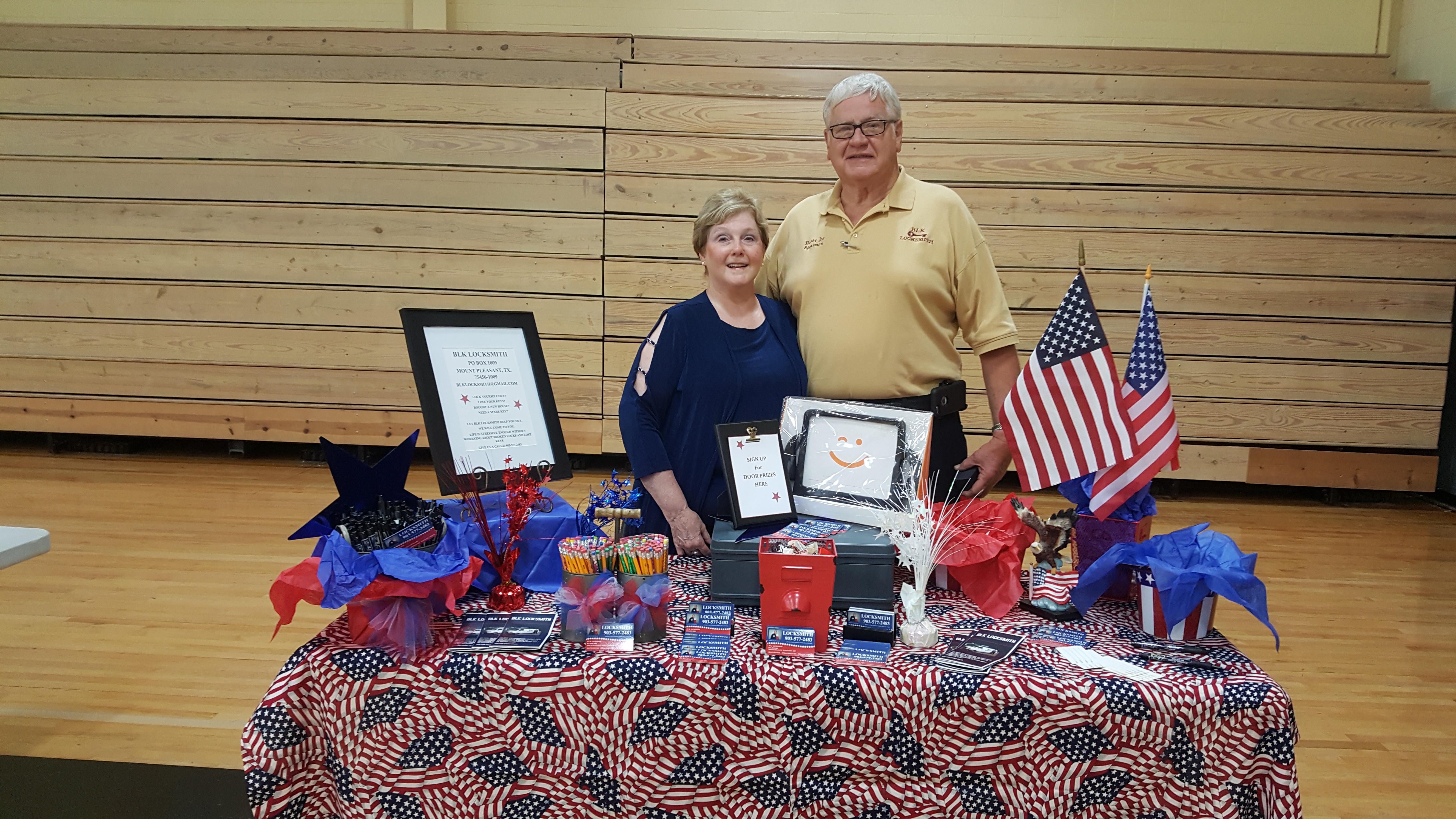 BOBBY JOE & MARY SPEARMAN PARTICIPATING IN LOCAL WELCOME BACK TEACHERS