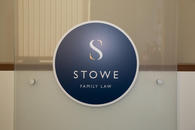 Stowe Family Law internal signange
