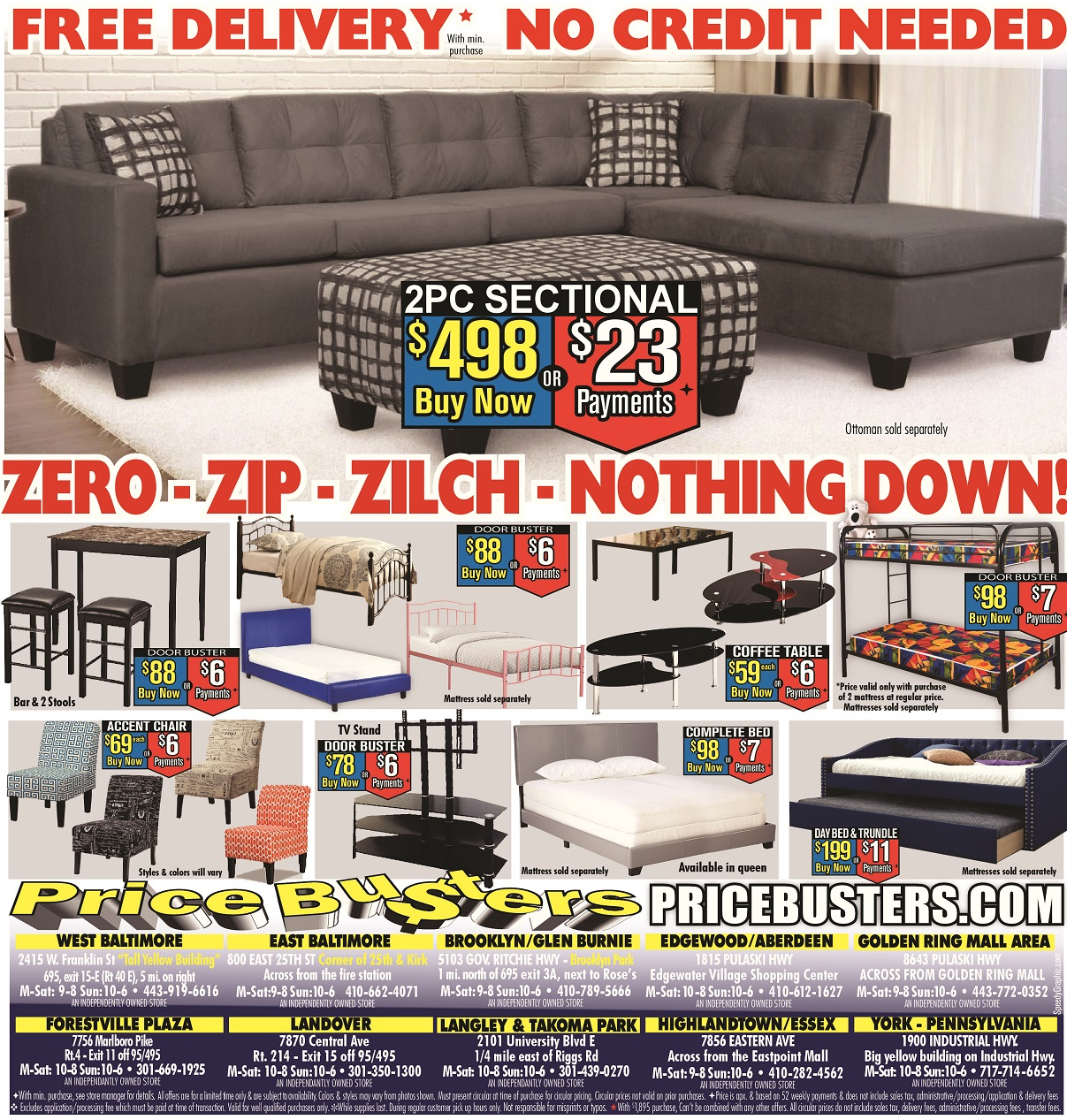 Price Busters Discount Furniture 9 East 9th Street Baltimore