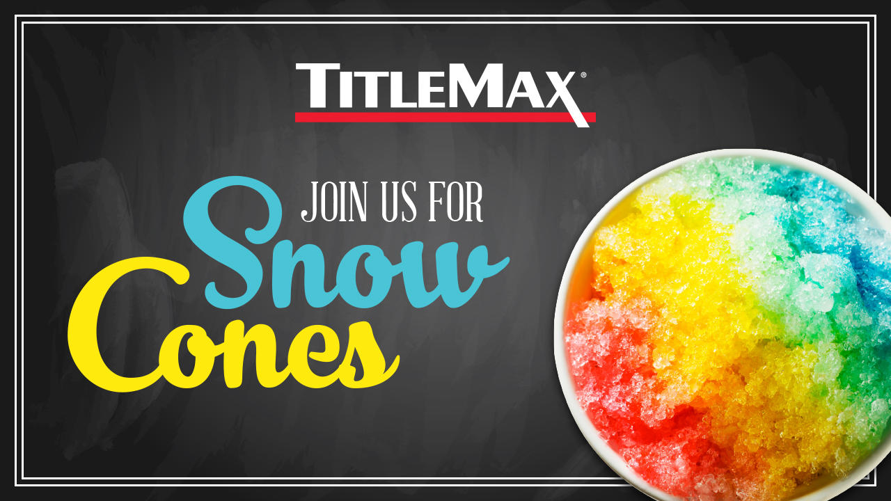 Snow Cone Event at TitleMax Tucker, GA
