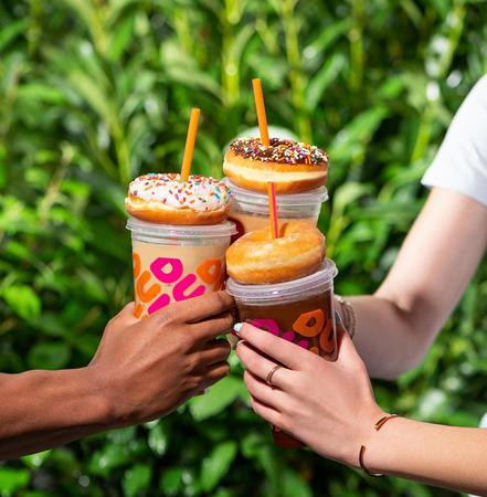 Dunkin' Iced Coffees with Donuts
