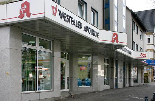 Aussenansicht der Westfalen Apotheke