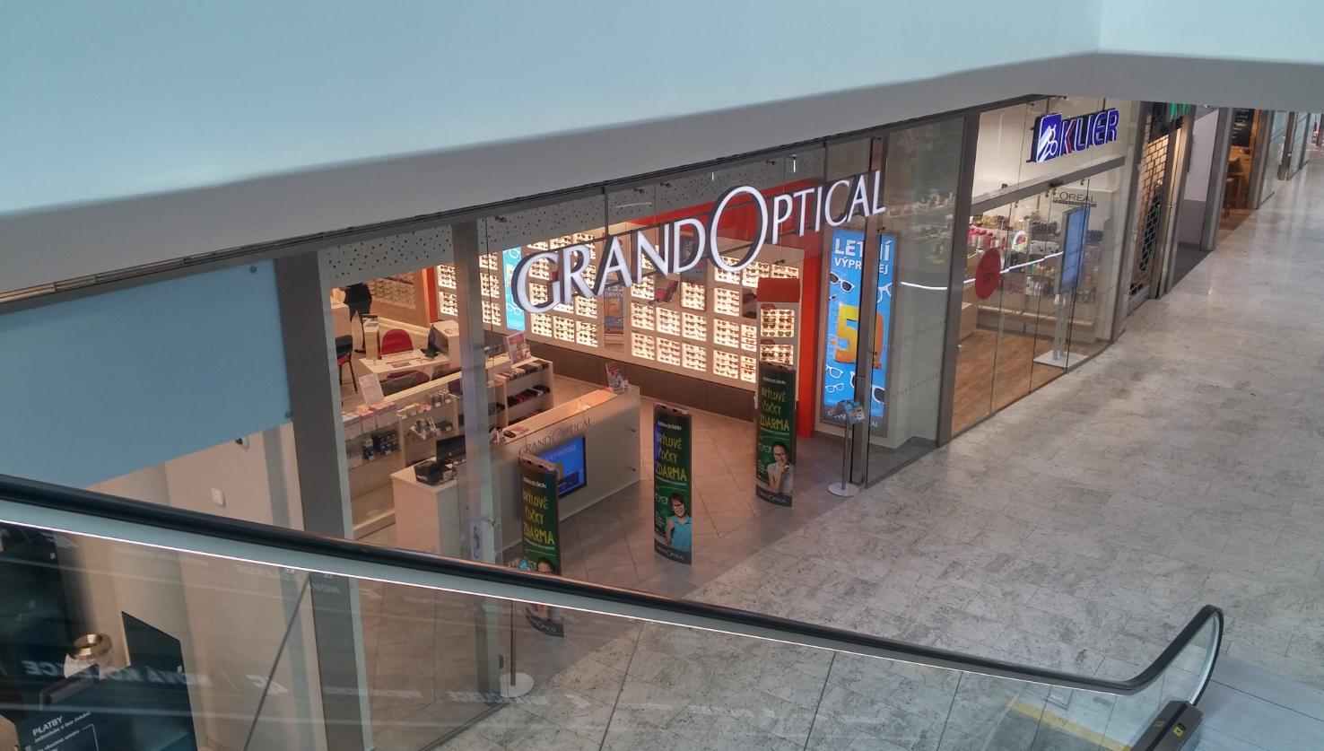 GrandOptical - oční optika Aupark Hradec Králové