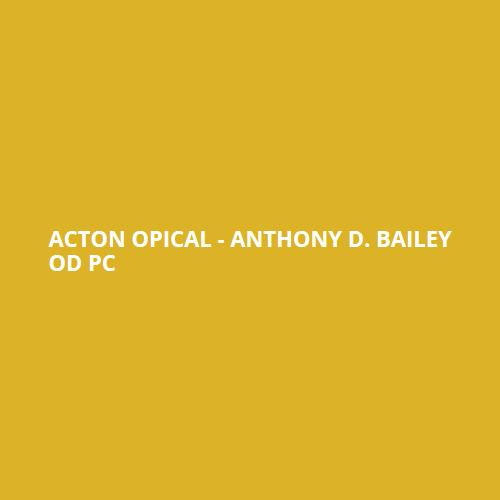 Dr. Anthony D. Bailey - OD Pc - Cedar Falls, IA - Opticians