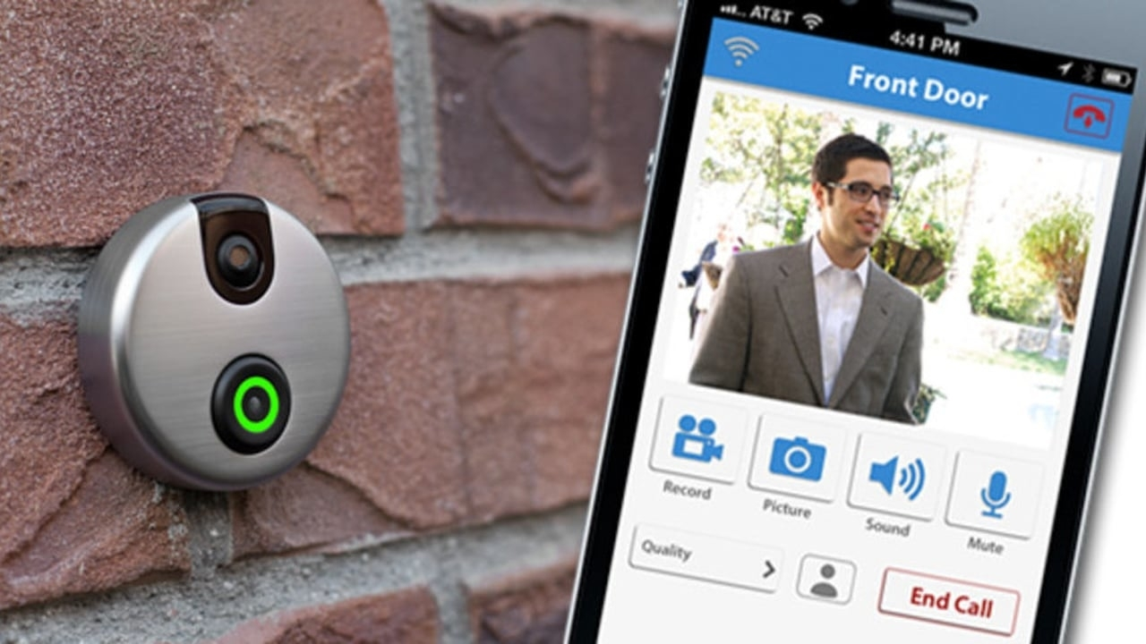 SkyBell is a Wi-Fi enabled doorbell that lets you answer the door no matter where you are or what yo Best Security Okanagan Kelowna (250)826-8395